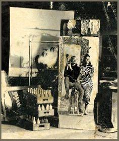 "nostalgia-gallery: "" Andy Warhol & Edie sedgwick """