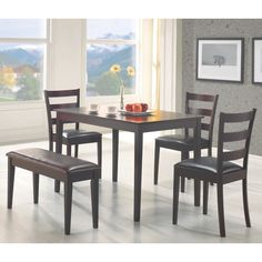 Furniture Of America Bennett 7 Piece Light Oak Dining Set By