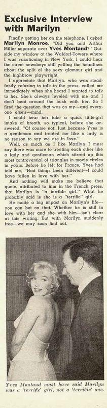 Modern Screen Février 1961 - Divine Marilyn Monroe
