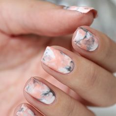 "4,301 Likes, 62 Comments - Explore Women's Luxury ✴ (@womensluxuryx) on Instagram: ""Pink Marble Nails TAG someone who would try this #WLX . . . . . . . . . . . . . .  #motivation…"""