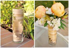 A chic vase made from popsicle sticks