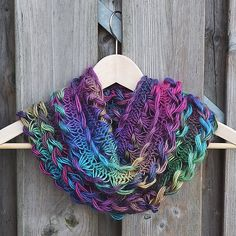 Ravelry: nemzor's Rainbow Braided Hairpin Lace Infinity Scarf