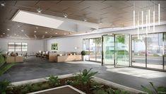 Pour un lieu de travail lumineux et agréable, optez pour la grande baie vitrée sur-mesure.