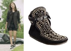 "Han Groo 한그루 in ""Marriage, Not Dating"" Episodes 1-2.  Isabel Marant Morley Moccasin Bootie #Kdrama #MarriageNotDating #연애말고결혼 #HanGroo"