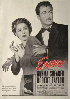 1940s Movie Magazines | ads vintage movie ads 1940 escape movie ad norma shearer