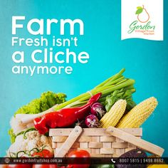 At Gordon, you are assured of the best varieties of fruits and vegetables that are truly fresh from our farms.  Visit our Website: www.gordonfruitshop.com.au  #HealthyLiving #EatHealthy #FreshFruits #FreshVegetables #FreshFromFarm #OrganicFruits #OrganicVegetables Organic Vegetables, Fruits And Vegetables, Variety Of Fruits, Fresh Fruit, Farms, Healthy Living, Website, Food, Fruits And Veggies