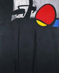 Joan Miró Oiseaux dans un paysage/ Pájaros en un paisaje, 1969-1974 Óleo y acrílico sobre tela