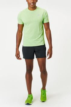 The New Balance Q Speed Fuel Short is designed to keep you comfortable on even the longest runs. A wide elastic waistband lies flat against the skin while the soft liner features a mesh gusset for breathable, chafe-free performance.  - Shop with Free Shipping and Free Returns at Running Warehouse! - #training #workout #health #fitness #footwear #shoes #jog #walk #nike #newbalance #hoka #altra #brooks #adidas #marathon #athletic #exercise #style #fashion #outfit #clothes #gym #sneakers Running Gear, Running Shorts, Footwear Shoes, New Balance Men, Mens Fall, How To Run Longer, Jogging, Stretch Fabric, Style Fashion