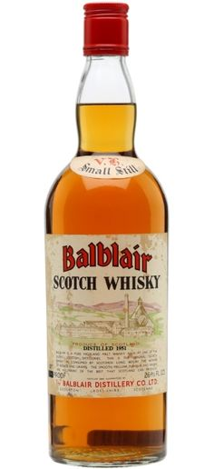 Official Balblair Scotch whisky distilled in 1951 and bottled in 70's