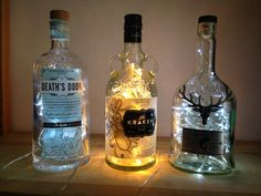 Upcycled KRAKEN Black Spiced RUM Bottle mains by CHANGEWORKSHOP