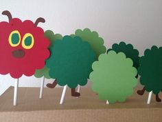 Eric Carle Hungry Caterpillar Birthday Or Baby Shower Cupcake Toppers