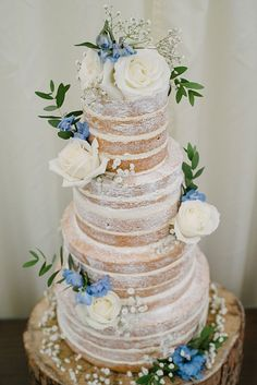 Naked Cake Rustic Pretty Pale Blue Summer Wedding www.georginabrews… Naked Cake Rustic Pretty Pale Blue Summer Wedding www. Nake Cake, Bolo Red Velvet, Dream Wedding, Wedding Day, Wedding Blue, Trendy Wedding, Wedding Ceremony, Simple Elegant Wedding, Blue Wedding Themes