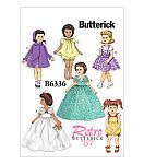 McCalls Pattern B6336-OSZ Retro Outfits for 18 Doll-On...