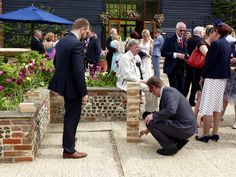 Giant jenga in the courtyard at Upwaltham Barns, West Sussex