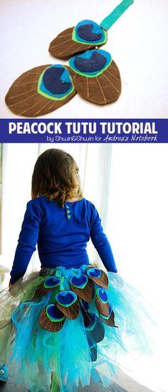 Peacock tutu tutorial! andreasnotebook.com