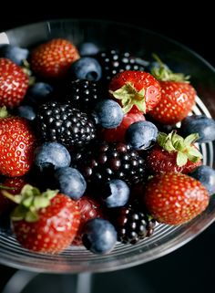 Mixed Berries - if they're available at the same time from the same container in Whole Foods, I get a good cup of these.