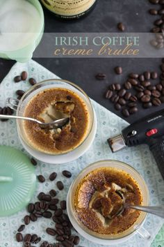 Cool, creamy crème brûlée gets a boozy kick from Irish whiskey, and rich flavor from toasty coffee.