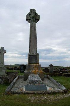 Flora MacDonald's grave in Kilmuir Cemetery on the Isle of Skye