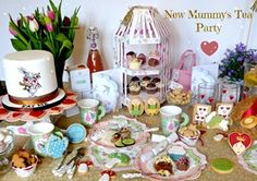 Mad Hatter's Tea Party - Alice in Wonderland Baby Shower theme. Perfect for celebrating mummy-to-be.