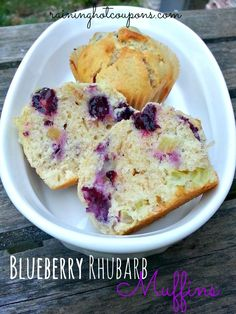 Blueberry Rhubarb Muffins Recipe