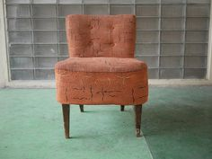 Small antique sitting lounge sofa chair  Lounge needs to be fixed, yet in the right environment it can still look at home. Pictures shows wear on the lounge chair. Renovation potential. Free shipping.  If your interested in this item contact Jam@iamjam.net Deal direct through PayPal and pay less, make me an offer
