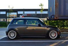 Click the image to open in full size. Mini Cooper Custom, Mini Cooper Sport, My Dream Car, Dream Cars, Road Bike Wheels, 17 Inch Wheels, Bbs Wheels, Pt Cruiser, Car Tuning
