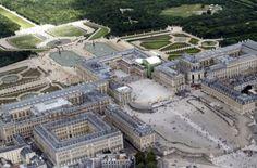 Veduta aerea della reggia di #Versailles