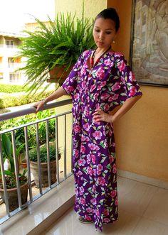 Beach Caftan Maxi Dress | Purple kaftan, summer maxi dress, caftan, sundress. beach cover up ...