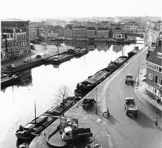 Westerhaven gezien naar het zuiden , met de Steenhouwerskade in 1959 - Foto's SERC