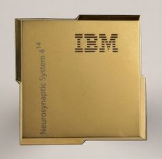 IBM's new postage stamp-sized chip integrates a million artificial neurons and 256 million artificial synapses. (IBM Research)