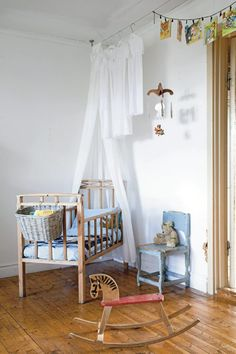 Nursery photographed by Anne-Charlotte Andersson for Lantliv magazine