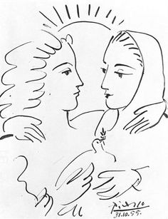 Women with a Dove, 1955 Pablo Picasso