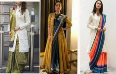 Ideas on How to flaunt in a saree without showing tummy and to hide post pregnancy fat, love handles. Also some Do's and Don'ts to get the elegant saree look. Dress To Hide Belly Fat, Dresses To Hide Tummy, Saree Draping Styles, Saree Styles, Kanakavalli Sarees, Sari Blouse Designs, Saree Look, Elegant Saree, Fat Women