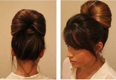 Bun Hairstyles for Long Hair - Trends Frisuren Roll Hairstyle, Bun Hairstyles For Long Hair, Modern Hairstyles, Popular Hairstyles, Hairstyles 2018, Hair Bow Bun, Types Of Buns, Hair To One Side, Simple Ponytails