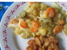 Letný zemiakový šalát • Recept | svetvomne.sk Oreo Cupcakes, Cooking Recipes, Healthy Recipes, Healthy Food, Fruit Salad, Pasta Salad, Salad Recipes, Potato Salad, Salads