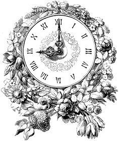 Старинные часы. Картинки для декупажа, скрапбукинга и других видов творчества. Фоны, циферблаты, стрелки.: ♥ Creative NN. Блог Альбины Рассеиной. ♥