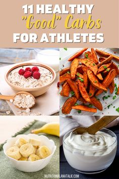 Grab the list of 11 healthy carbs for athletes to fuel their workouts. Get the scoop on healthy versus unhealthy carbs are how many carbs you should eat in a day? #carbs #preworkoutfuel Nutrition For Runners, Nutrition Plans, Nutrition Tips, What Are Healthy Carbs, Good Carbs, Sources Of Soluble Fiber, Sprouted Grain Bread, Runners Food, Dried Mangoes
