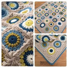 All done (sunburst square pattern by Priscilla Hewitt bobble shell edging by Attic24) by littledovecrochet