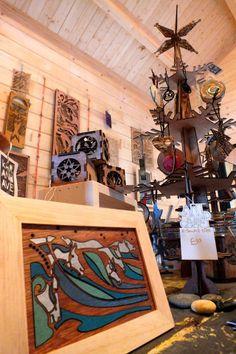 inside the log cabin gallery, christmas 2013, mawgan porth