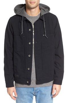 VANS 'Calpine' Hooded Shirt Jacket. #vans #cloth #