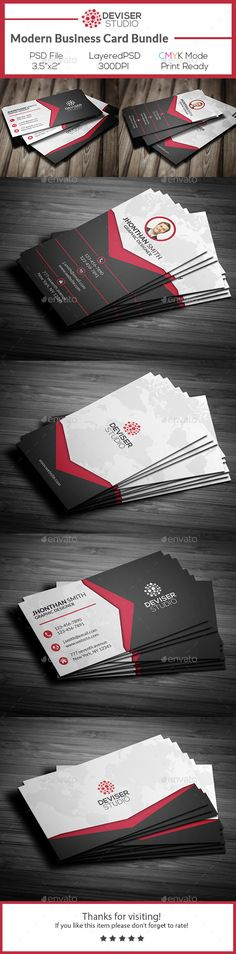 Modern Business Card Bundle - Business Cards Print Templates Download here : http://graphicriver.net/item/modern-business-card-bundle/12629767?s_rank=1757&ref=Al-fatih