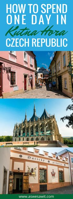 The ancient silver mining town of Kutna Hora is one of the Czech Republic's most popular destinations. Only an hour from Prague, it makes a great day trip and an even better destination in its own right. Click through to find out how to spend a day in Kutna Hora, Czech Republic. | As We Saw It #kutnahora #czechia  #czechrepublic #itinerary #daytrip