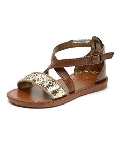 Look at this Gold Pearly Sandal on #zulily today!