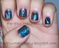 I Got The Paua!!   For Your Nails Only    From: http://foryournailsonly.net/2010/10/i-got-the-paua.html#