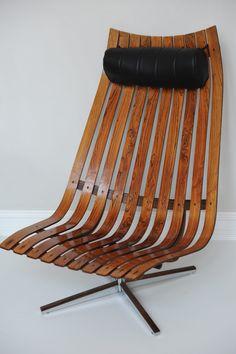 Scandia, ca Hans Brattrud. Outdoor Chairs, Outdoor Furniture, Outdoor Decor, Barcelona Chair, Icon Design, Teak, Furniture Design, Lounge, Retro