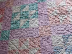 1930s quilt hand quilted Road to California by fabriquefantastique, $89.00