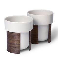 Walnut Warm Tea Cup Set Of 2, Brian Keaney for Tonfisk Design