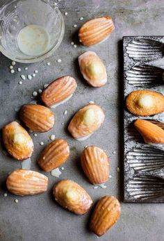 Lemon Madeleines Recipe (These lemon madeleines with just the perfect lilt of citrus are the best teacakes we've ever tasted. One taste and you'll understand exactly what we mean. Best Cookie Recipe Ever, Best Cookie Recipes, Delicious Desserts, Dessert Recipes, Yummy Food, Yummy Yummy, Tea Cakes, Lemon Recipes, Sweet Recipes