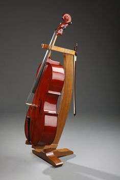 Custom Made Cherry Cello Stand by Nwb Woodworks