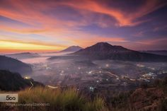 Morning in Pinggan by gedesuyoga  clouds dramatic fogg landscape longexposure morning mountain nature sky sunrise sunset Morning in Pi